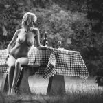 Black & White Art Photography Titel: Picknick