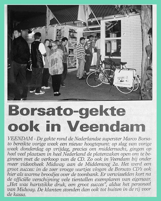 Borsato Gekte Ook In Veendam - Videotheek Midway 1998