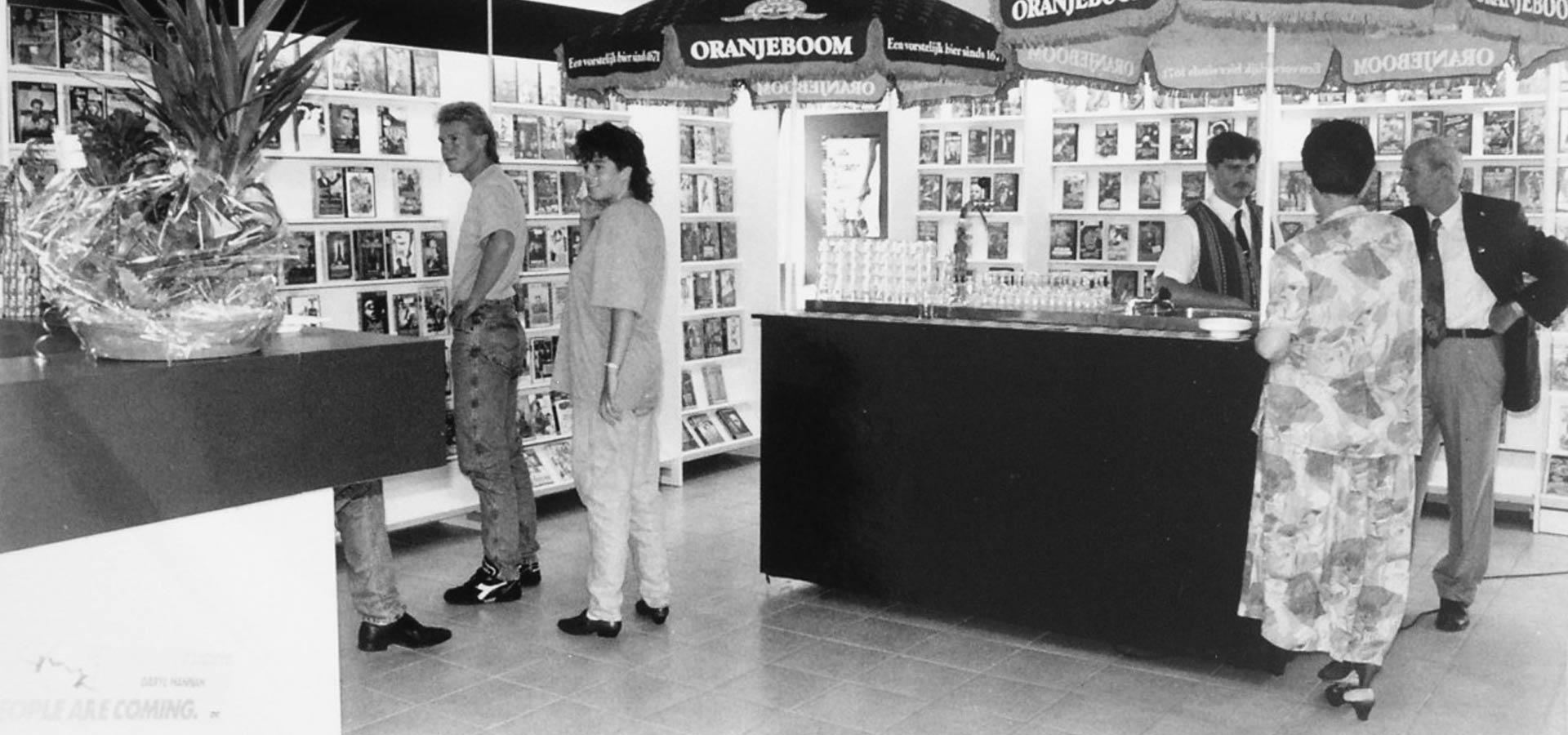 Videotheek Midway Opening Middenweg 2a 16 augustus - 1991
